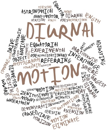 diurnal: Abstract word cloud for Diurnal motion with related tags and terms