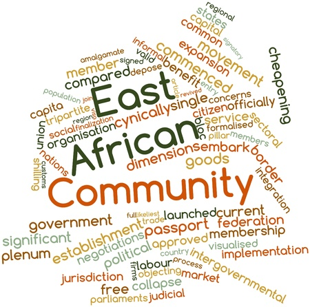 embark: Abstract word cloud for East African Community with related tags and terms