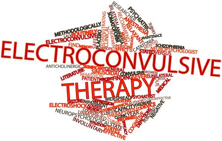 continuation: Abstract word cloud for Electroconvulsive therapy with related tags and terms