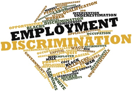 Abstract word cloud for Employment discrimination with related tags and terms