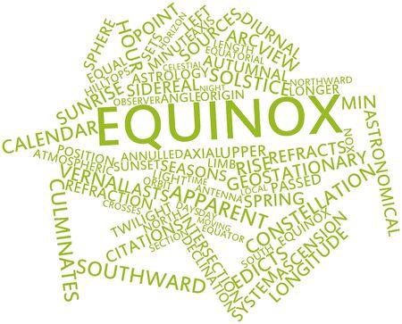 Abstract woordwolk voor Equinox met gerelateerde tags en voorwaarden Stockfoto - 17319522