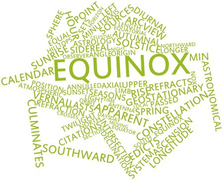 ascribed: Abstract word cloud for Equinox with related tags and terms