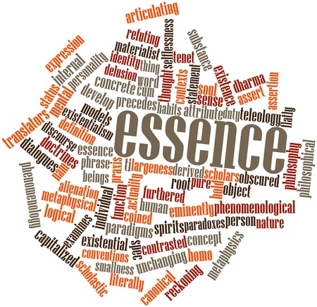 assertion: Abstract word cloud for Essence with related tags and terms