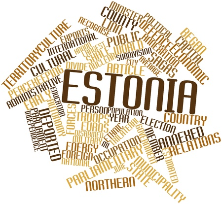 Abstract word cloud for Estonia with related tags and terms Stock Photo - 17306828