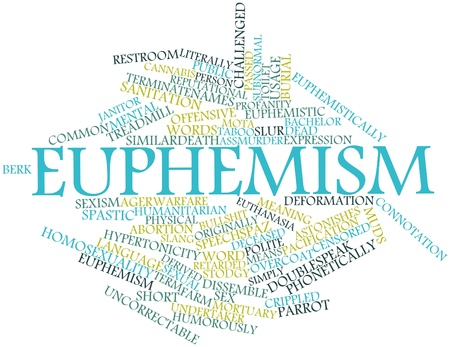 Abstract word cloud for Euphemism with related tags and terms Stock Photo - 17319552