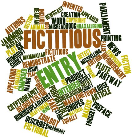 Abstract word cloud for Fictitious entry with related tags and terms Stock Photo - 17320259