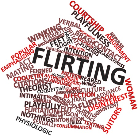 Abstract word cloud for Flirting with related tags and terms Stock Photo - 17320257