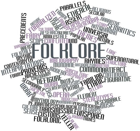interpretations: Abstract word cloud for Folklore with related tags and terms