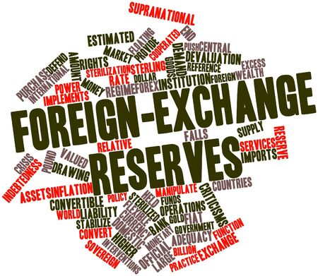 Abstract word cloud for Foreign-exchange reserves with related tags and terms Stock Photo - 17319705