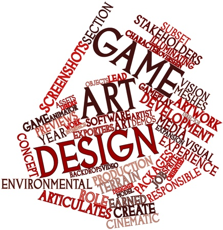 overseen: Abstract word cloud for Game art design with related tags and terms