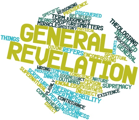 revelation: Abstract word cloud for General revelation with related tags and terms