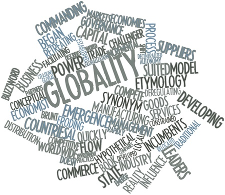 coined: Abstract word cloud for Globality with related tags and terms