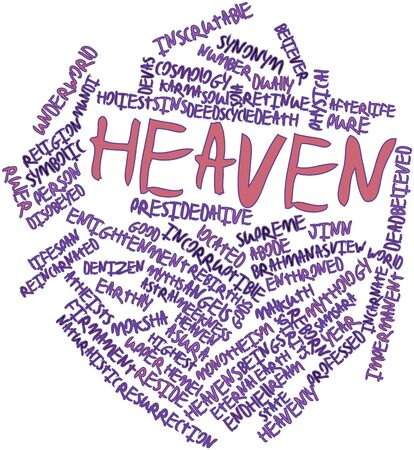 Abstract word cloud for Heaven with related tags and terms Stock Photo - 17320304