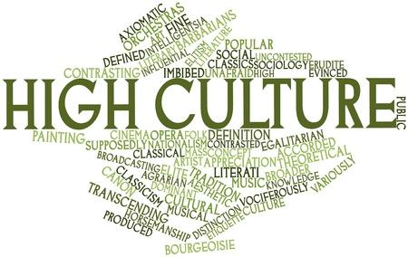 supposedly: Word cloud astratto per la cultura alta con tag correlati e termini