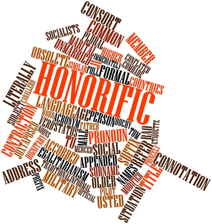 acronym: Abstract word cloud for Honorific with related tags and terms