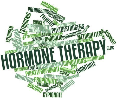 Abstract word cloud for Hormone therapy with related tags and terms Imagens - 17319888