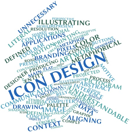 conventional: Abstract word cloud for Icon design with related tags and terms
