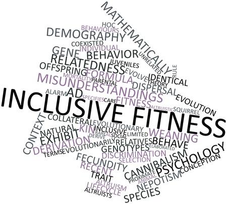 demografia: Nube palabra abstracta para la aptitud inclusiva con las etiquetas y términos relacionados Foto de archivo