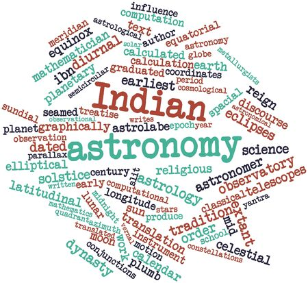 Abstract word cloud for Indian astronomy with related tags and terms Stock Photo - 17320157