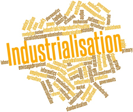civilisations: Abstract word cloud for Industrialisation with related tags and terms
