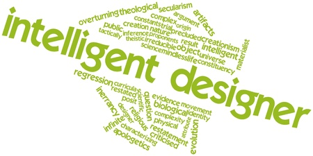 ruling: Abstract word cloud for Intelligent designer with related tags and terms Stock Photo