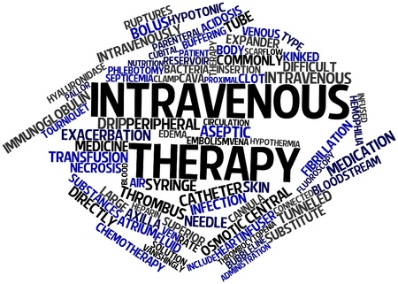 Abstract word cloud for Intravenous therapy with related tags and terms Stock Photo - 17319665