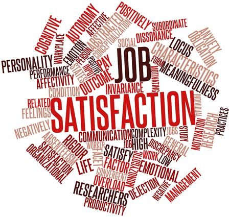 desigualdad: Nube palabra abstracta para satisfacci�n en el trabajo con las etiquetas y t�rminos relacionados