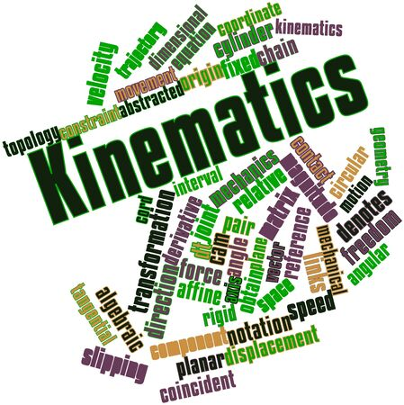 perpendicular: Abstract word cloud for Kinematics with related tags and terms