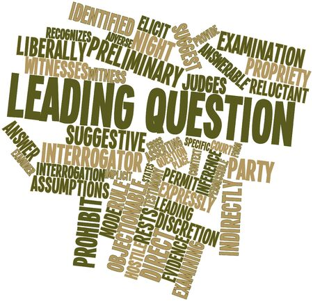Abstract word cloud for Leading question with related tags and terms Stock Photo - 17319833