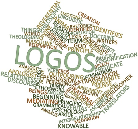 rhetorical: Abstract word cloud for Logos with related tags and terms