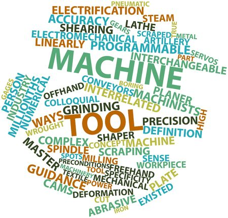 workpiece: Abstract word cloud for Machine tool with related tags and terms
