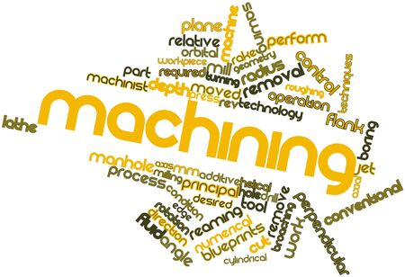 Abstract word cloud for Machining with related tags and terms Stock Photo - 17319412