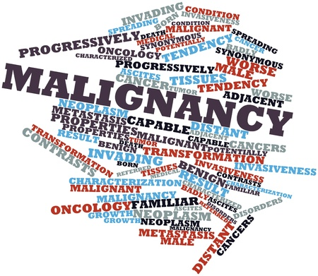 Abstract word cloud for Malignancy with related tags and terms Stock Photo - 17319715