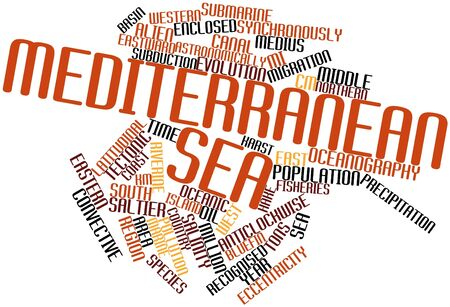 Abstract word cloud for Mediterranean Sea with related tags and terms Stock Photo - 17319508