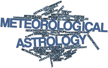 correlated: Abstract word cloud for Meteorological astrology with related tags and terms