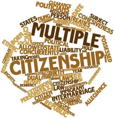 tratados: Abstract Nube de la palabra de la ciudadan�a m�ltiple con etiquetas y t�rminos relacionados