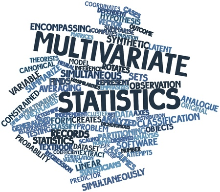 Abstract word cloud for Multivariate statistics with related tags and terms Stock Photo - 17320048