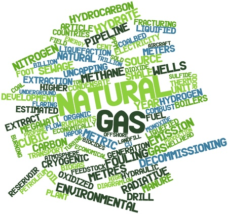 hydraulic: Abstract word cloud for Natural gas with related tags and terms