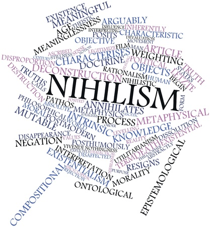 epistemological: Abstract word cloud for Nihilism with related tags and terms