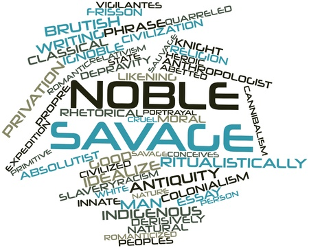 dialectic: Abstract word cloud for Noble savage with related tags and terms