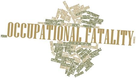 contributors: Abstract word cloud for Occupational fatality with related tags and terms