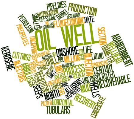 seeps: Abstract word cloud for Oil well with related tags and terms