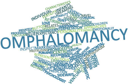 inevitability: Abstract word cloud for Omphalomancy with related tags and terms Stock Photo
