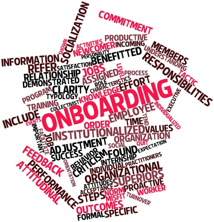 turnover: Abstract word cloud for Onboarding with related tags and terms