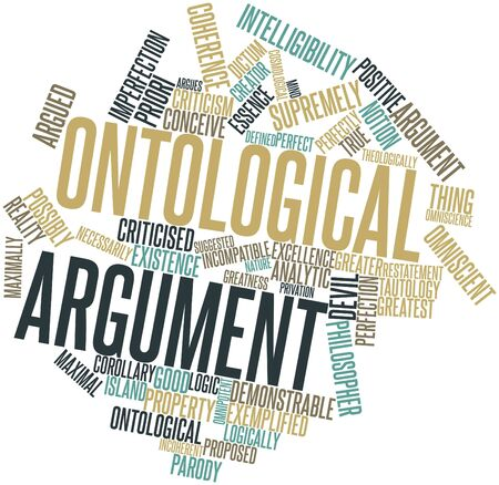 incompatible: Abstract word cloud for Ontological argument with related tags and terms