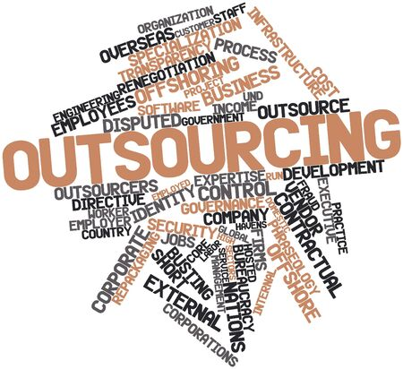 Abstract word cloud for Outsourcing with related tags and terms Stock Photo - 17319558