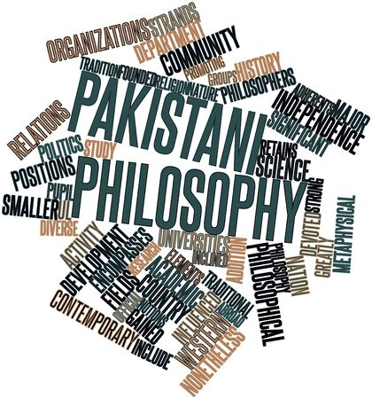 gained: Abstract word cloud for Pakistani philosophy with related tags and terms
