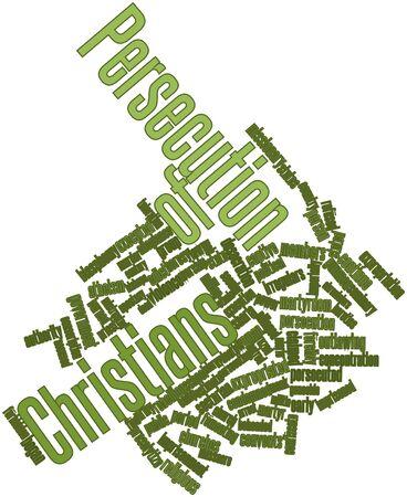 edicto: Nube palabra abstracta para la persecución de los cristianos con las etiquetas y términos relacionados