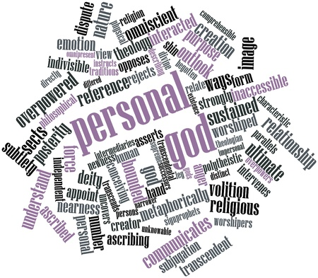 differed: Abstract word cloud for Personal god with related tags and terms