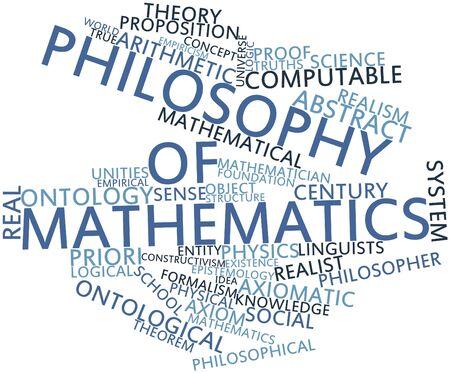 Nube de palabras Resumen de Filosofía de las matemáticas con las etiquetas y términos relacionados